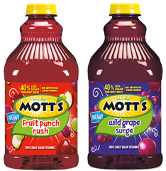 Motts Fruit Cocktails $1 off 2 Motts Sauce or Motts Juice Drink Coupon