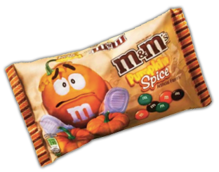 Pumpkin Spice MMs Target: Bag of Pumpkin Spice M&M's for $.45 (Today Only)