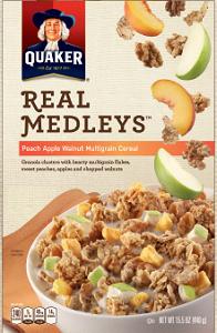 Quaker Real Medley Bars $1 off Quaker Real Medley Bars or Cereal Coupon