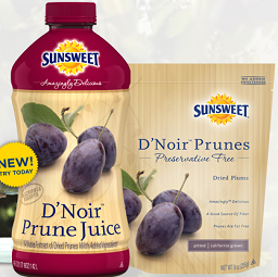 Sunsweet DNoir Prunes $1 off Sunsweet D'Noir Prunes or One D'Noir Prune Juice Coupon