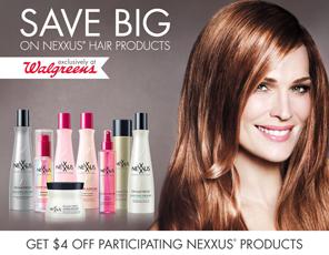 Walgreens Nexxus Coupon $4 off NEXXUS Hair Products Coupon