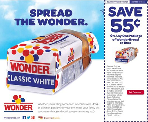 Wonder Bread $0.55 off Wonder Bread or Buns Coupon