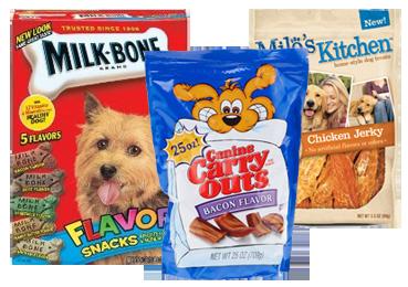 dog snacks 4 NEW Dog Snacks & Treat Coupons