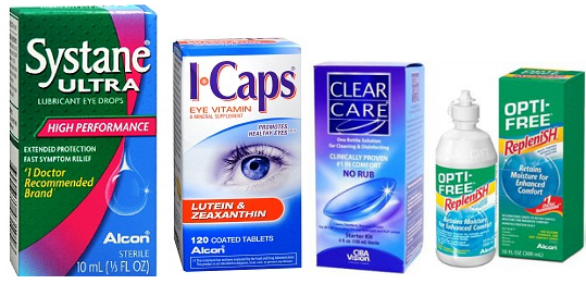 Eye Drops Eye Drops Coupons: Systane, ICAPS and CLEAR CARE or OPTI FREE