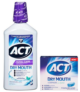 ACT Total Care Dry Mouth Rinse Lozenges