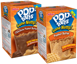 Kelloggs Pop Tarts Gone Nutty $1 off ANY Two Kelloggs Pop Tarts Gone Nutty Coupon