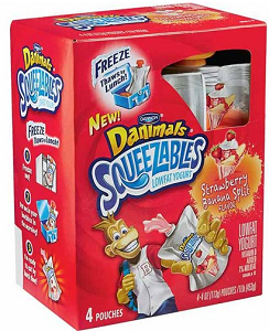 Danimals Squeezables Low-Fat Yogurt