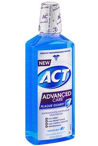 ACT Advanced Care Plaque Guard Mouthwash