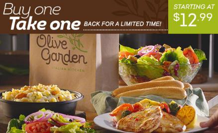 BOGO Entrees at Olive Garden