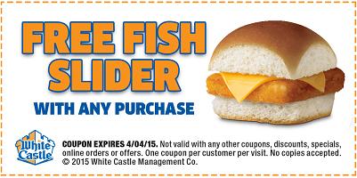 White Castle Free Fish Slider