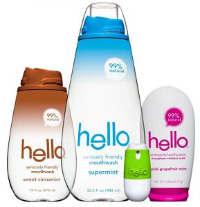 Hello Mouthwash Toothpaste Breath Spray
