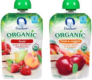 Gerber Organic Pouches