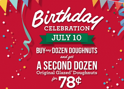 Krispy Kreme Birthday Offer