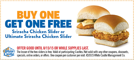 FREE Sriracha Chicken Slider at White Castle