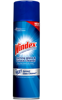 Windex Aerosol Glass Cleaner