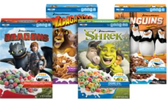 DreamWorks Cereals