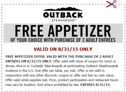 Outback Football Coupon