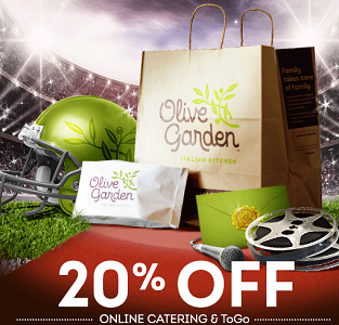 Olive Garden Coupon 20 Off Catering And Togo Hunt4freebies