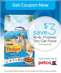 Purina Friskies Cat Food at Petco Coupon