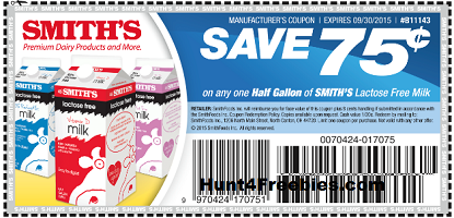 Smiths Lactose Free Milk Coupon