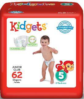 Ultra Absorbent Kidgets Jumbo Diapers