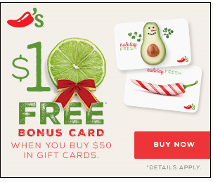 Chilis Gift Card Deal