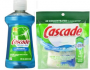Cascade Dish Detergent and Rinse Aid