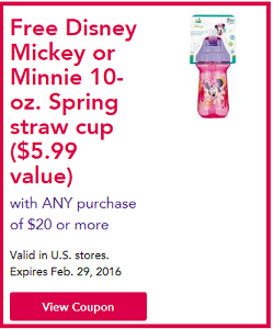 FREE Disney Mickey or Minnie coupon