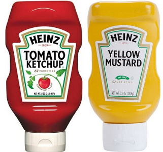 Heinz Ketchup and Mustard