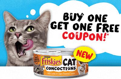 BOGO FREE Friskies Cat Food Coupon