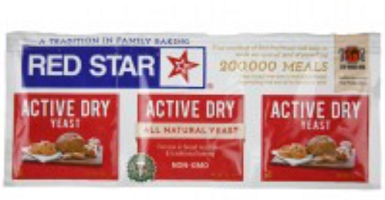 3- strip of Red Star Yeast