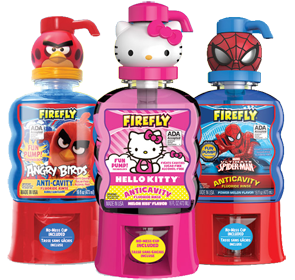 Firefly-Angry-Birds-Hello-Kitty-Spider-Man-Mouth-Rinses