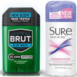 Sure and Brut Deodorant