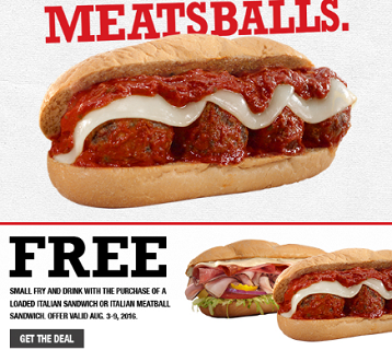 Arbys Coupon Meatball Offer