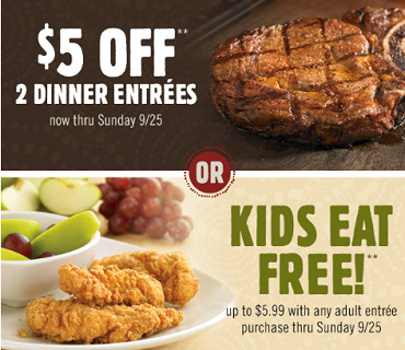 Outback 5 dollar coupon