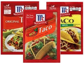 NEW McCormick Dry Seasoning Mixes, Spices or Herbs and Food Coloring ...