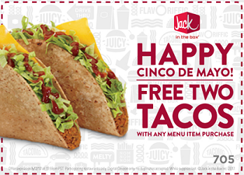 Jack In The Box Coupon 2 Free Tacos With Purchase Hunt4freebies
