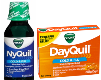 image relating to Nyquil Coupons Printable identified as Clean DayQuil, NyQuil and Vicks Goods - Hunt4Freebies